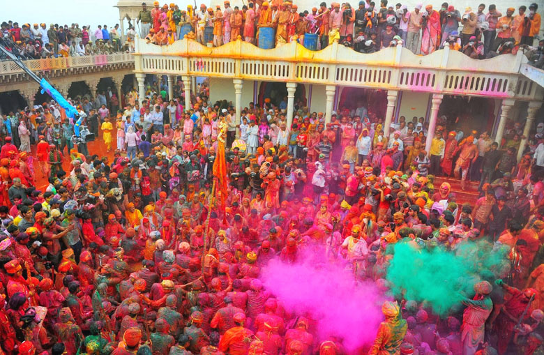 Vrindavan,Holi festival of colors India