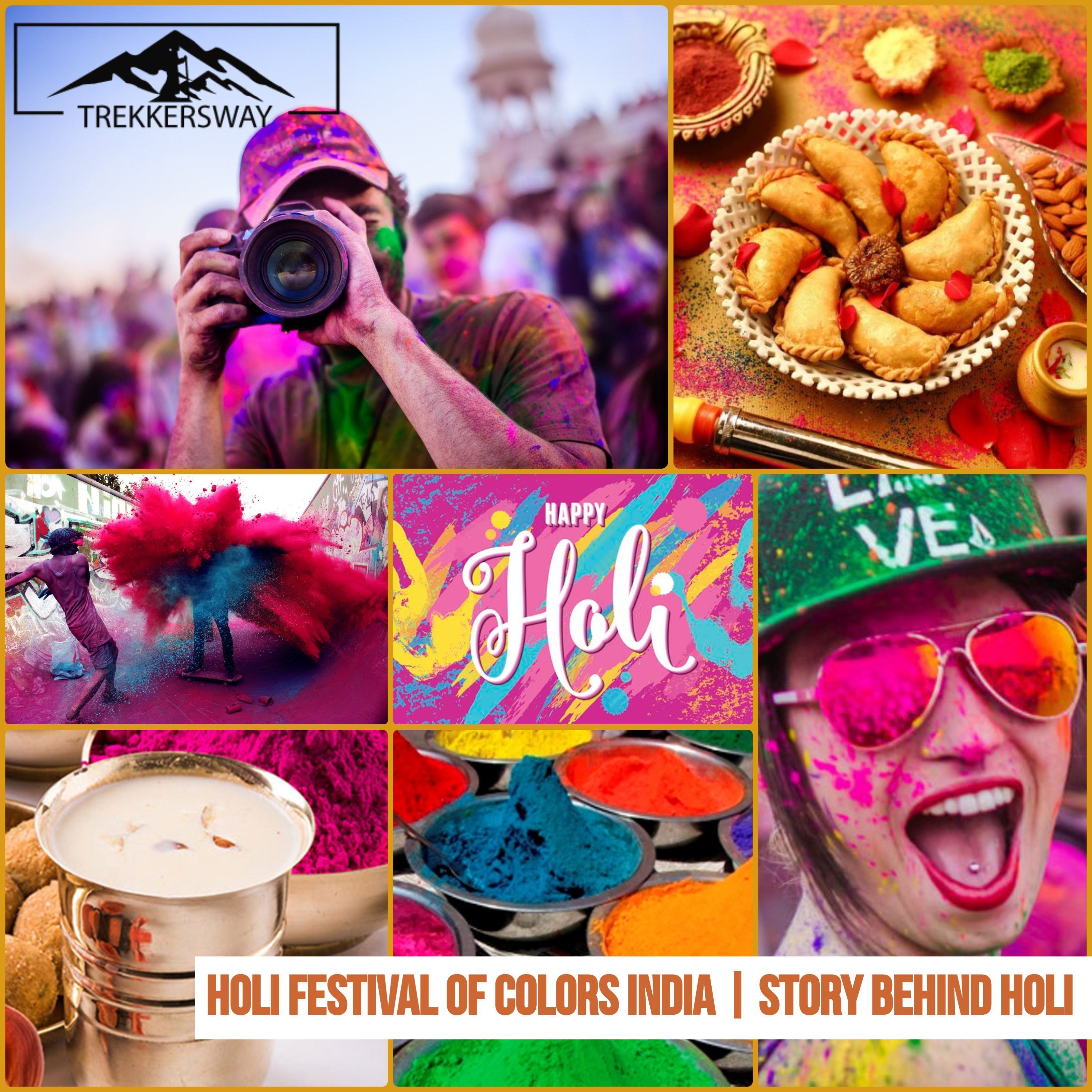HOLI FESTIVAL OF COLORS INDIA | STORY BEHIND HOLI